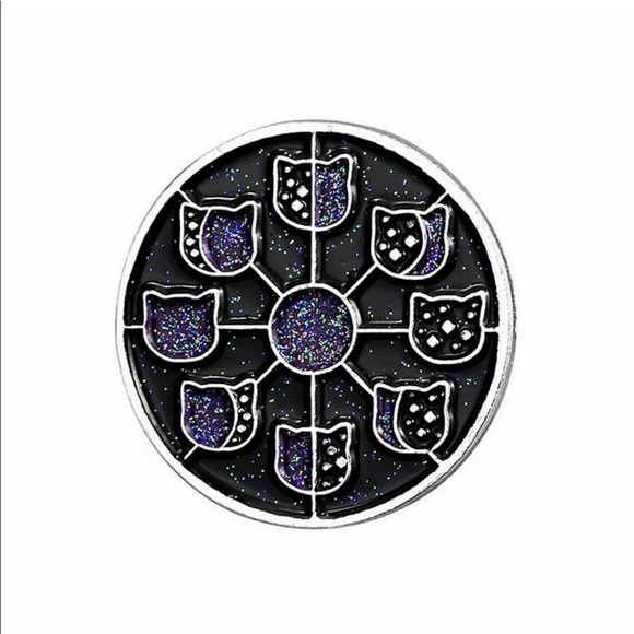 Jewelry - 3 for $30 Cat Moon Phases Enamel Pin